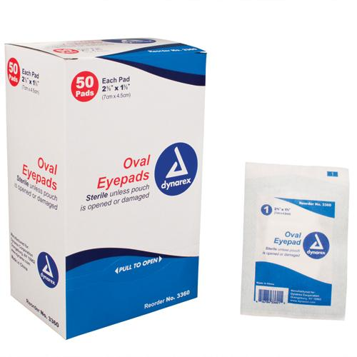 Sterile Oval Eyepad  Sterile 2 5/8  x 1 5/8  50 Pouches/ Bx