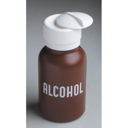 Liquid Push Down Alcohol Dispenser- Labeled