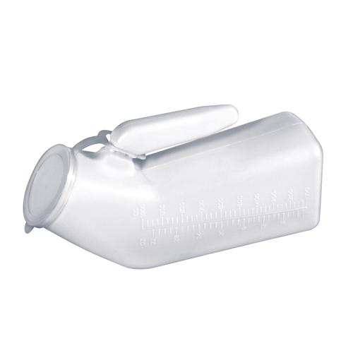 Urinal Male w/Cover Disposable Translucent