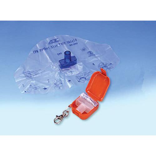 Adsafe CPR Face Shield Plus w/Mouthpc & 1-Way Valve Orange