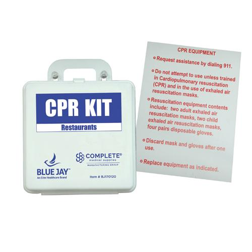 First Aid Kit - CPR Restaurant w/Poster
