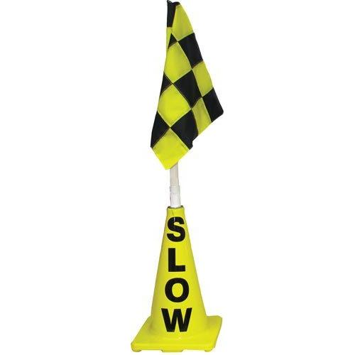 Yellow Cone w/ Yellow/Black Flag (Slow)