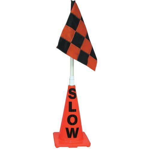 Orange Cone w/ Orange/Black Flag (Slow)