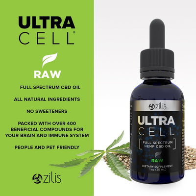 UltraCell Full Spectrum Hemp CBD Oil Raw 1(oz) 30mL