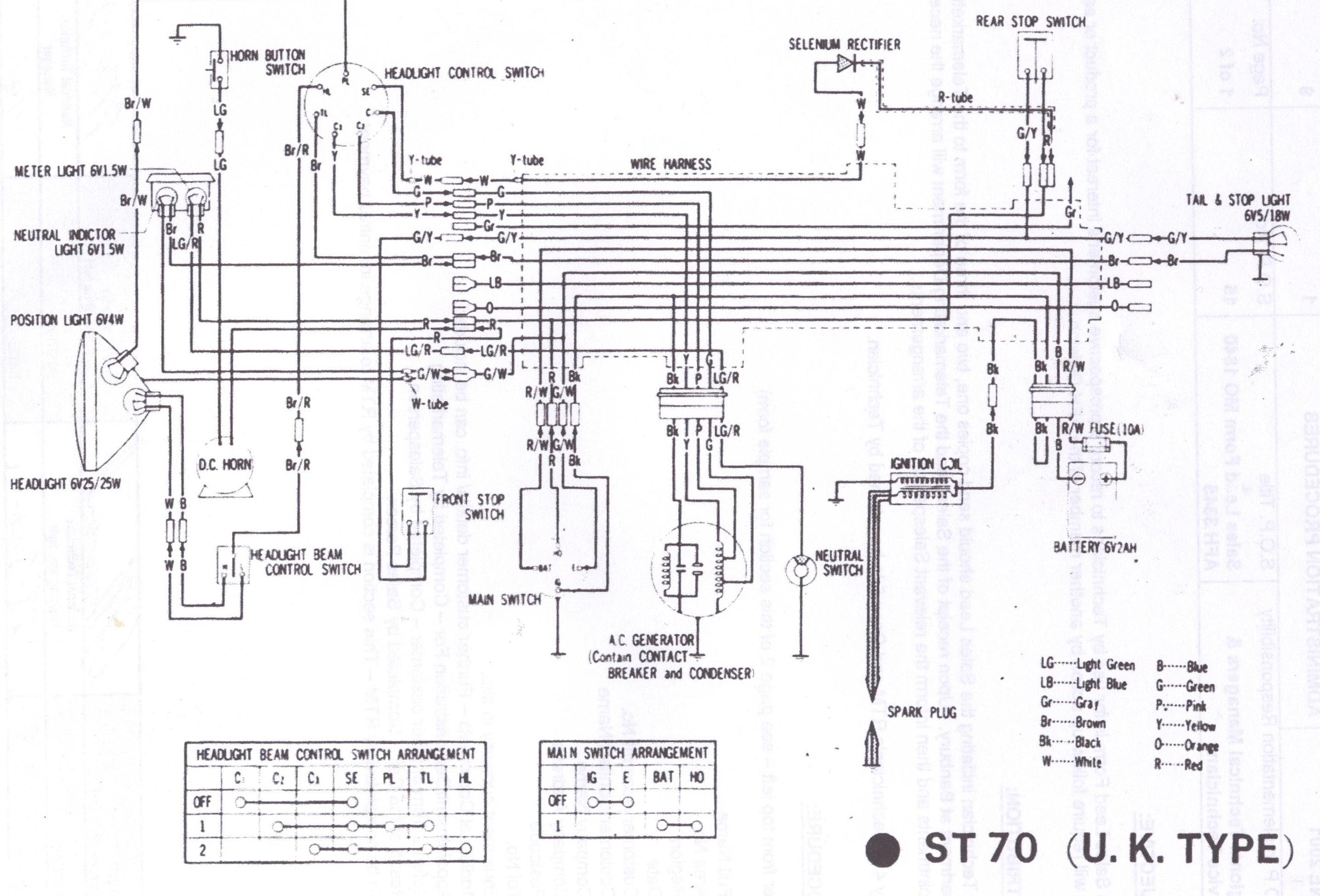 Honda St 50 Wiring Diagram Electrical Drawing 1982 Cb750 Dax 6v St50 St70 Shire Bikes Parts Accesories Suitable Rh Shirebikes Co Uk