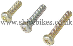 Honda 6V Magneto Cover Screw Set suitable for use with Z50M, Z50A, Z50J1, Z50R, Dax 6V, Chaly 6V