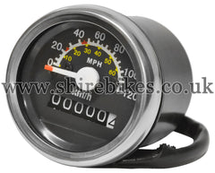 Reproduction MPH & KPH Speedometer suitable for use with Z50M, Z50A, Z50J1, Z50J & Chinese Copies