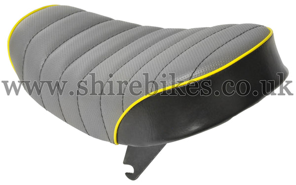 Custom Grey/Yellow Seat suitable for use with Monkey Bike Motorcycles