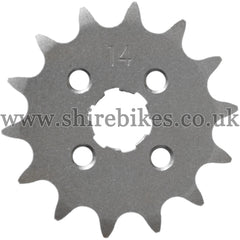 14T Front Sprocket suitable for use with CZ100, Z50M, Z50A, Z50J1, Z50R, Z50J, Dax 6V, Dax 12V, Chaly 6V, C90E