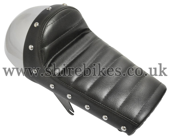 Custom Cafe Racer Silver Seat suitable for use with Monkey Bike Motorcycles