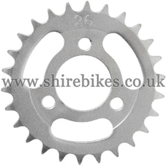 26T Rear Sprocket suitable for use with CZ100, Z50M, Z50A, Z50J1, Z50J, Z50R & Chinese Copies