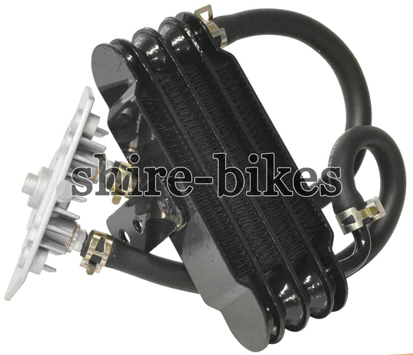 Custom Black Oil Cooler suitable for use with Monkey Bike Motorcycles