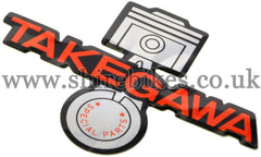 Takegawa Piston Sticker suitable for use with Monkey Bike Motorcycles