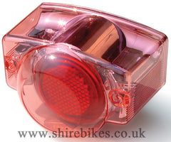 Takegawa Pink/Chrome Blaze Rear Light Lens suitable for use with Z50J