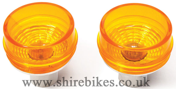 Takegawa Amber Blaze Indicator Lens & 12V Bulbs (Pair) suitable for use with Z50J