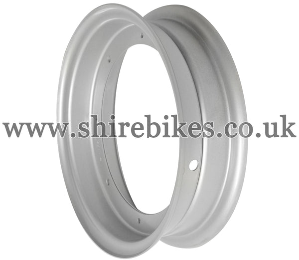 Honda Silver Steel Wheel Rims suitable for use with Dax 6V, Dax 12V, Chaly 6V