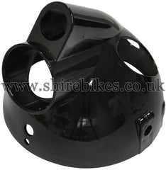 Black Plastic Headlight Bowl suitable for use with Monkey Bike Motorcycles