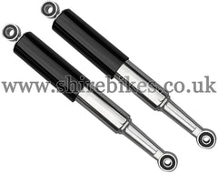 340mm Black Shroud Shock Absorbers (Pair) suitable for use with Dax 6V, Chaly 6V
