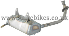 Reproduction Bare Metal Low Muffler Exhaust System suitable for use with Z50M