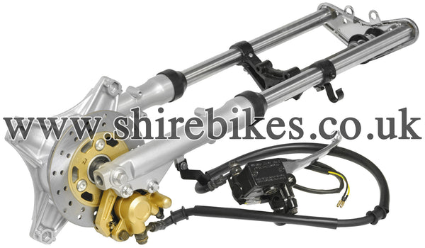 Custom Disc Brake Telescopic Fork Kit (Imperfection Read Desc) suitable for use with Dax & Chaly Motorcycles