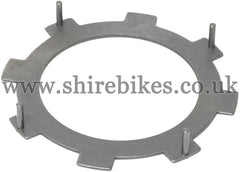 Honda Pegged Steel Clutch Plate suitable for use with CZ100, Z50M, Z50A, Z50R, Z50J1, Dax 6V, Chaly 6V, Dax 12V, C90E