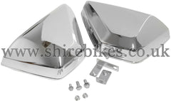 Custom Chrome Dual Side Cover Kit suitable for use with Monkey Bike Motorcycles
