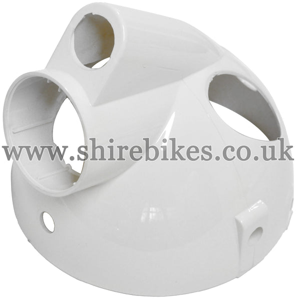 White Plastic Headlight Bowl suitable for use with Monkey Bike Motorcycles