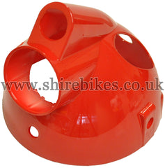 Red Plastic Headlight Bowl suitable for use with Monkey Bike Motorcycles