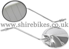 Zhen Hua Chrome Mirrors (Pair) suitable for use with SR50, SR125 & Jincheng M50
