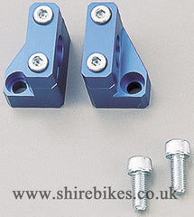 Daytona Blue Aluminium Handlebar Risers suitable for use with Monkey Bike Motorcycles