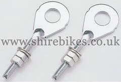 CF POSH (Japan) Stainless Steel Chain Adjusters (Pair) suitable for use with Z50J1, Z50R, Z50J, Dax 6V, Dax 12V, Chaly 6V