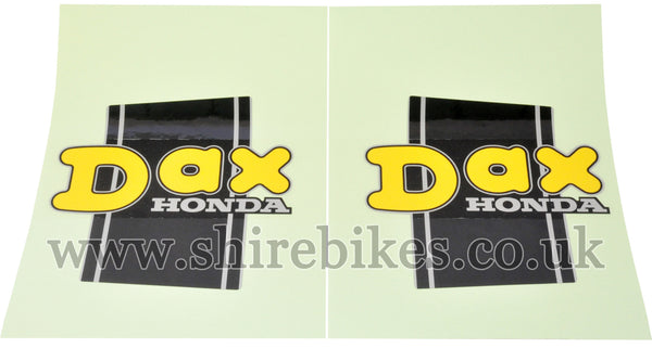 Honda Yellow Frame Stickers (Pair) suitable for use with Dax 6V, Dax 12V