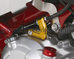 Kitaco Gold Aluminium Clutch Cable Holder suitable for use with MSX125 GROM, Monkey 125