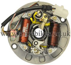 Reproduction 84.7mm Magneto Stator Plate suitable for use with Z50M, Z50A, Z50J1, Dax 6V, Chaly 6V
