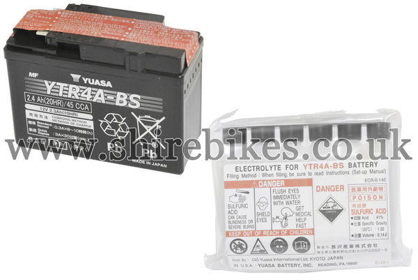 Honda Yuasa YTR4A-BS 12V Battery suitable for use with Z50J