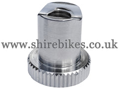 Reproduction Chrome Brake Adjuster Nut suitable for use with CZ100 (Early Models)