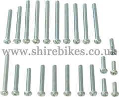 Reproduction Crankcase Screw Set suitable for use with Z50M, Z50A, Z50R, Z50J1, Dax 6V, Chaly 6V