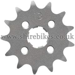 13T Front Sprocket suitable for use with CZ100, Z50M, Z50A, Z50J1, Z50R, Z50J, Dax 6V, Dax 12V, Chaly 6V, C90E