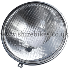 NOS Honda 6V Head Light Lens & Reflector with Side Light suitable for use with Dax 6V (English Models), Chaly 6V (English Models)
