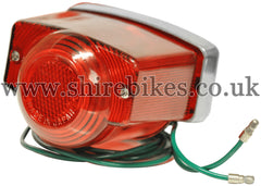 Reproduction 6V Complete Rear Light Unit *imperfections* suitable for use with Z50M, Z50A (UK & General Export Model), Dax 6V ST50 (UK Model)