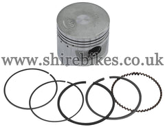 Honda (Standard Size) 47mm Flat Top Piston & Rings suitable for use with C90E