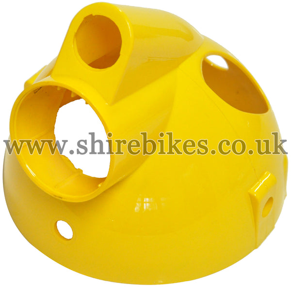 Yellow Plastic Headlight Bowl suitable for use with Monkey Bike Motorcycles