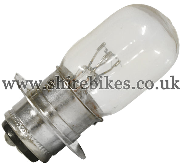 Reproduction 6V Headlight Twin Filament Bulb suitable for use with Dax 6V ST50, Chaly 6V CF50, Z50A