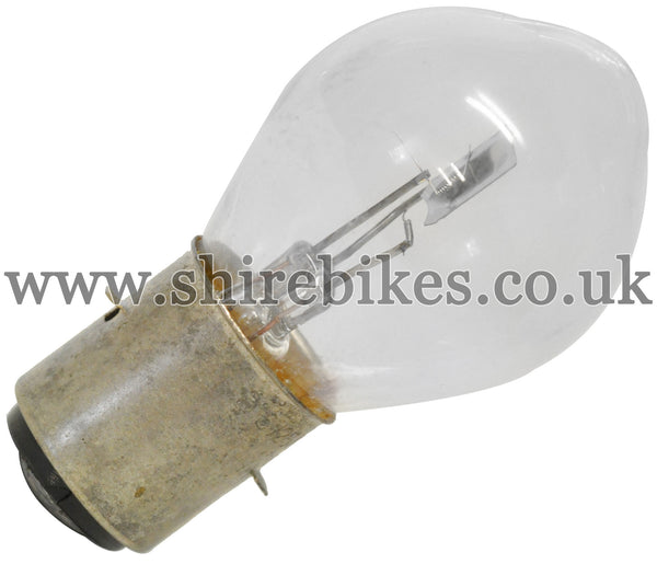 Reproduction 6V Headlight Twin Filament Bulb suitable for use with Dax 6V ST70, Chaly 6V CF70, Z50A