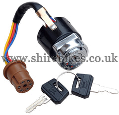 Reproduction 3 Position Ignition Switch (6 Wire) suitable for use with Dax 6V