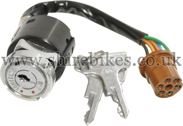 Honda 3 Position Ignition Switch (6 Wire) suitable for use with Dax 6V