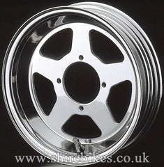 10 x 3.00 Daytona Five Spoke Aluminium Tubeless Wheel suitable for use with Monkey Bike Motorcycles