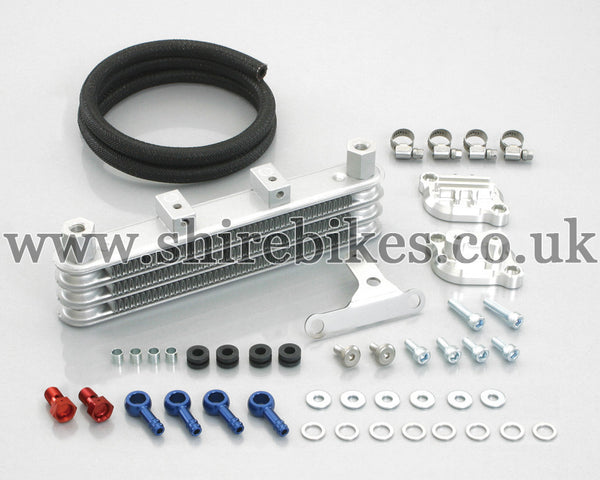 Kitaco Silver Oil Cooler Kit suitable for use with MSX125 GROM