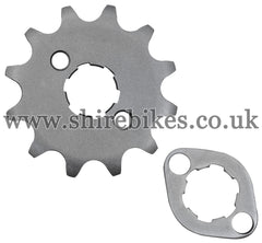 Honda 12T Front Sprocket & Retainer suitable for use with Z50A, Z50J1, Z50R, Z50J, Dax 6V, Chaly 6V, Dax 12V, C90E