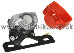 Reproduction 12V Rear Light & Number Plate Holder suitable for use with Z50J & Chinese Copies